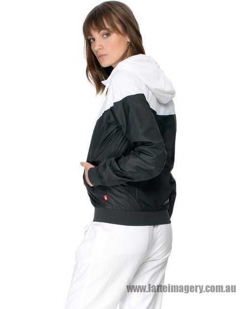 Nike - Nike Windrunner - Black & White - NI126SA12KWX - Women - Clothing - Coats & Jackets
