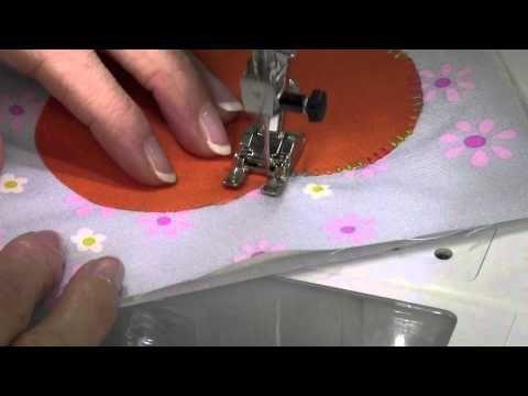 Bernina 380 33 Blanket Stitch Applique - YouTube