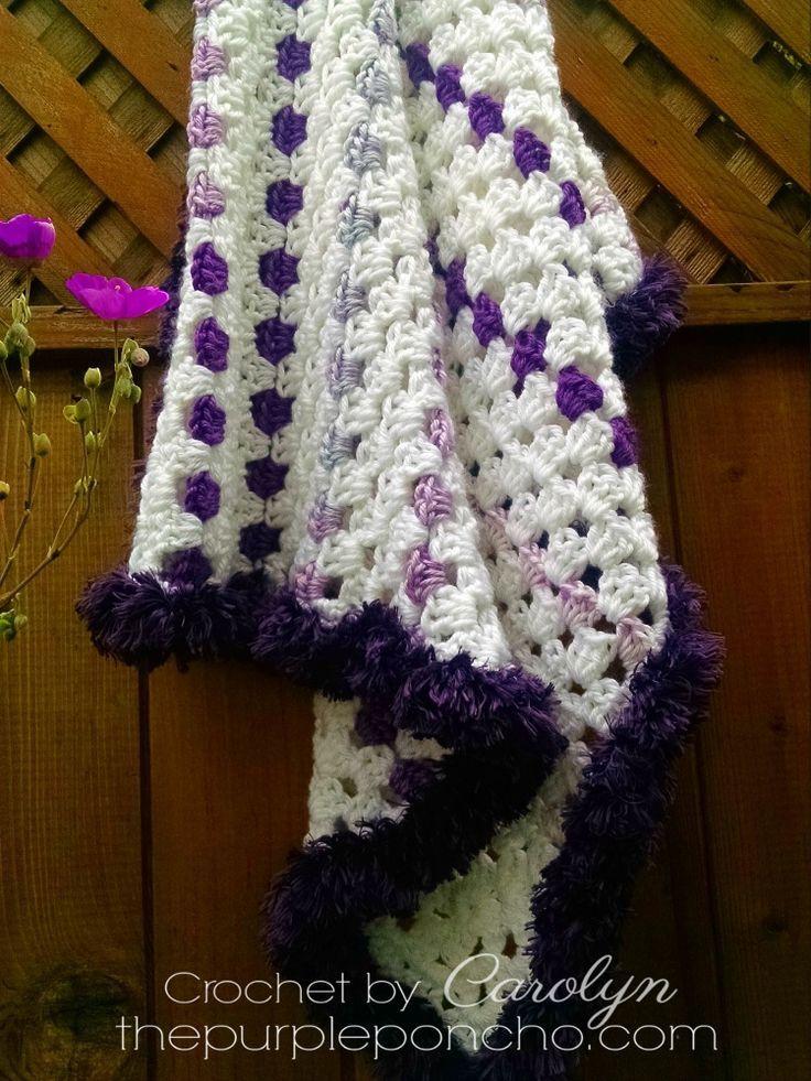 Mitered Baby Granny Square Blanket Free Crochet Pattern