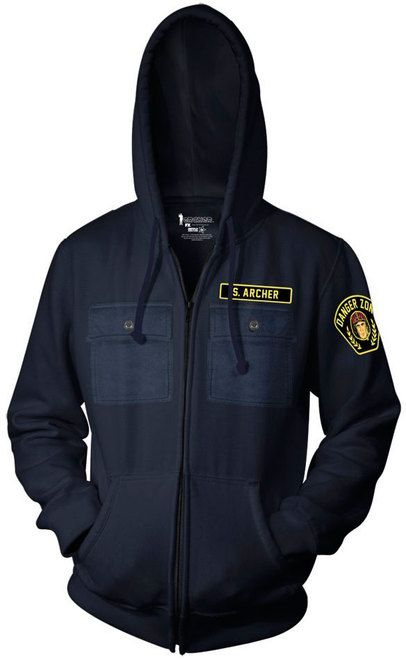Archer Danger Zone Zip Up Hoodie