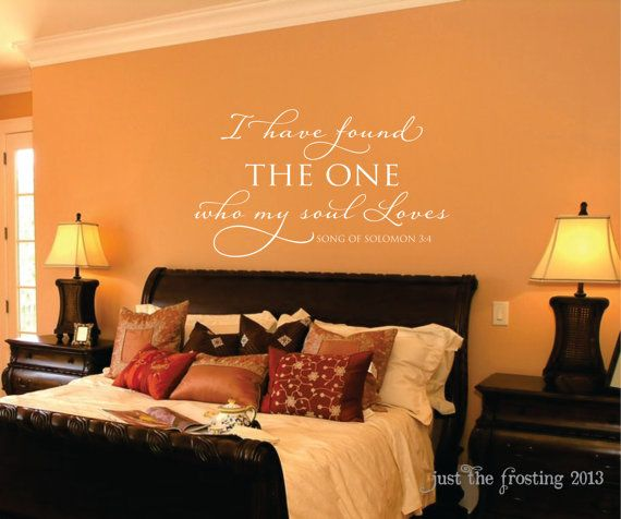 Song of Solomon Vinyl Wall Decal   Scripture Wall Decal  I have found the  one. 17 Best images about   Song of Solomon   on Pinterest   Songs
