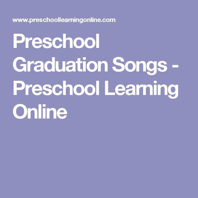 Preschool Graduation Songs - Preschool Learning Online