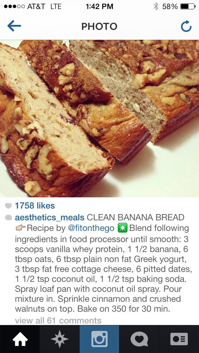 Healthy banana nut bread