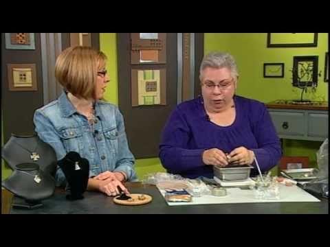 Jackie Truty, a argila do metal Especialista Cria marmoreado Anéis em grânulos, Bola. . .