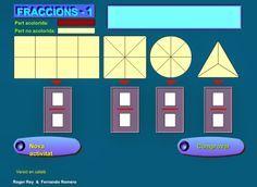 http://lacasetaespecial.blogspot.com.es/2014/02/practiquem-les-fraccions.html    La Caseta, un lloc especial: Practiquem les fraccions