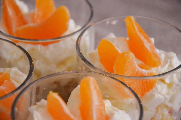 Mandarinos pohárkrém