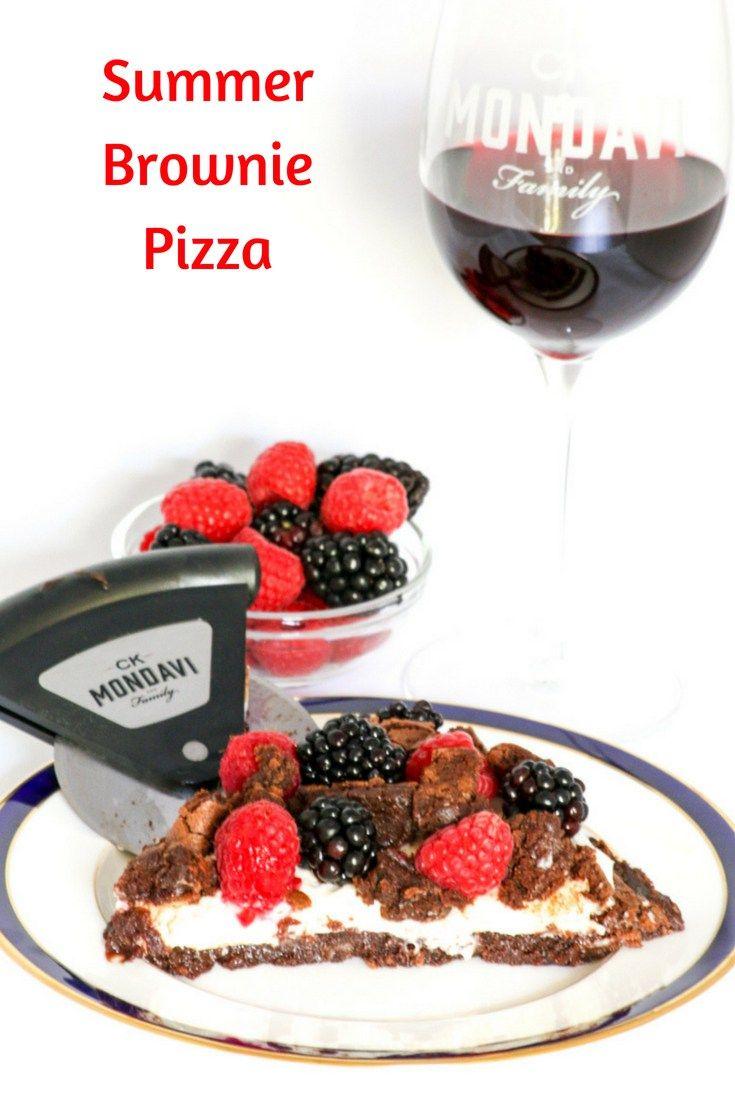 Summer Brownie Pizza Desserts Required Recipe Summer Brownie Desserts Dessert Recipes