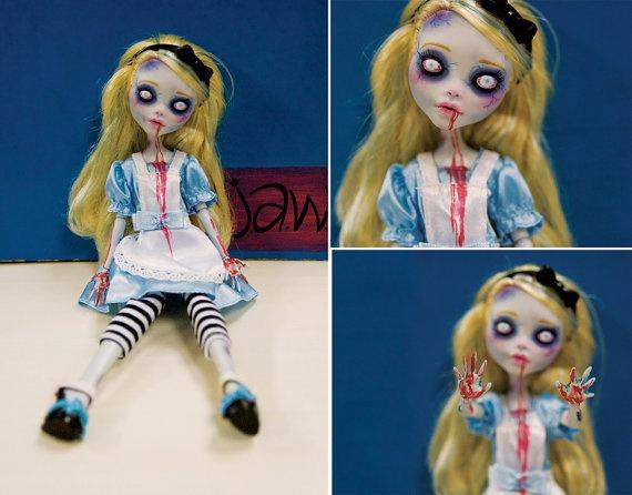 Custom Monster High Doll: Zombie Alice @Katherine Suarez
