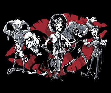 Rocky Horror Characters T-Shirt