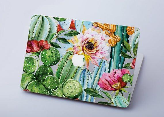 Flowers Macbook Air 13 Sticker Cactus Macbook Pro Retina 15 Skin Macbook Air 11 Decal Floral Macbook Pro 13 Trendy Sticker Macbook 12 RS3141