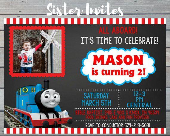 Thomas tren invitación / Thomas el tren cumpleaños / Thomas la