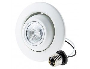"LED Can Light Retrofit for 4"" Fixtures - 10W Gimbal Can Light Conversion Kit"