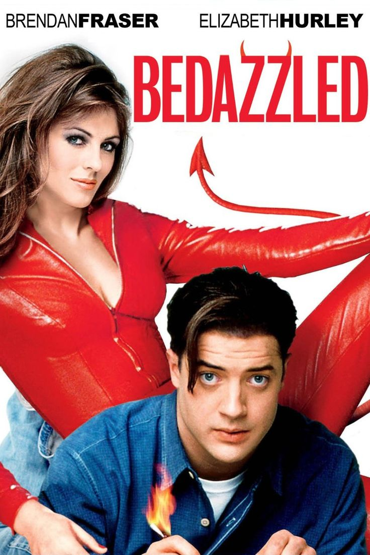 BEDAZZLED (2000) - Brendan Fraser - Elizabeth Hurley - 20th Century-Fox - DVD Cover Art.