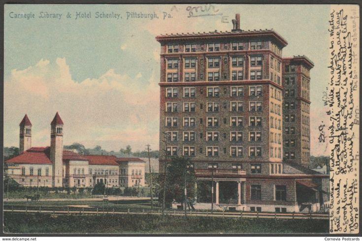 Carnegie Library & Hotel Schenley, Pittsburgh, Pennsylvania PA, USA, 1905 - Rotograph U/B Postcard
