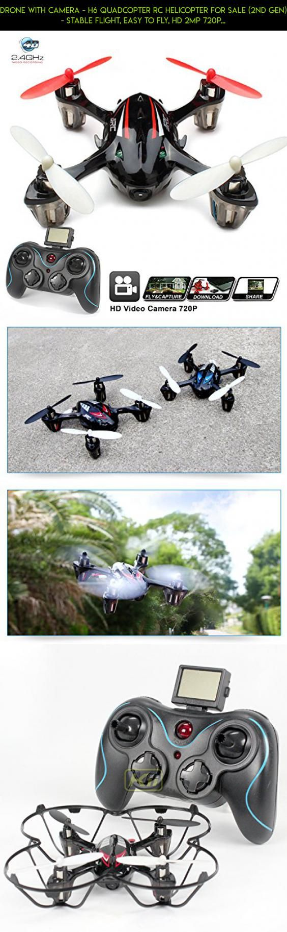 Drone with Camera - H6 Quadcopter RC Helicopter for sale (2nd Gen) - Stable Flight, Easy to Fly, HD 2MP 720p Aerial Photo Video, Headless Mode [USA Warranty + Tech Support] #external #tech #products #plans #shopping #charger #camera #racing #parrot #technology #parts #drone #fpv #kit #battery #gadgets