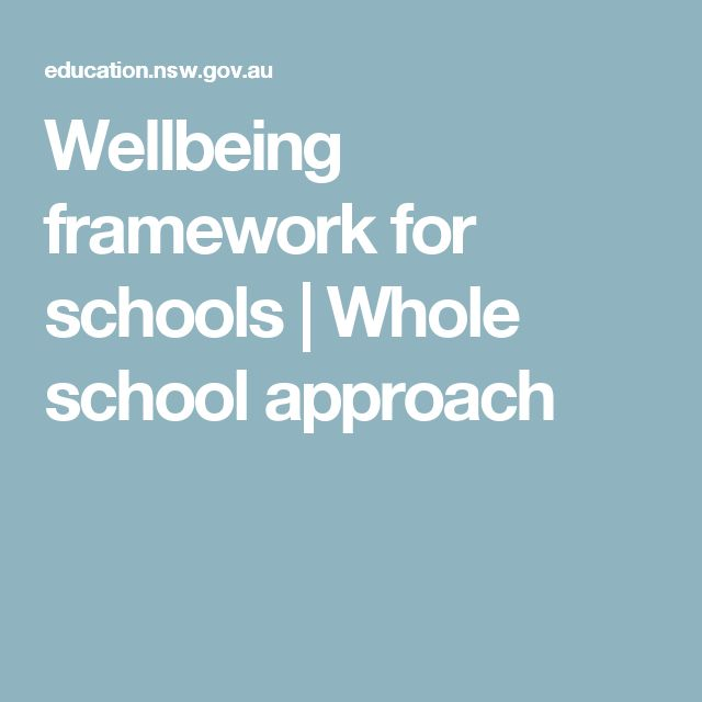 Wellbeing framework for schools | Whole school approach