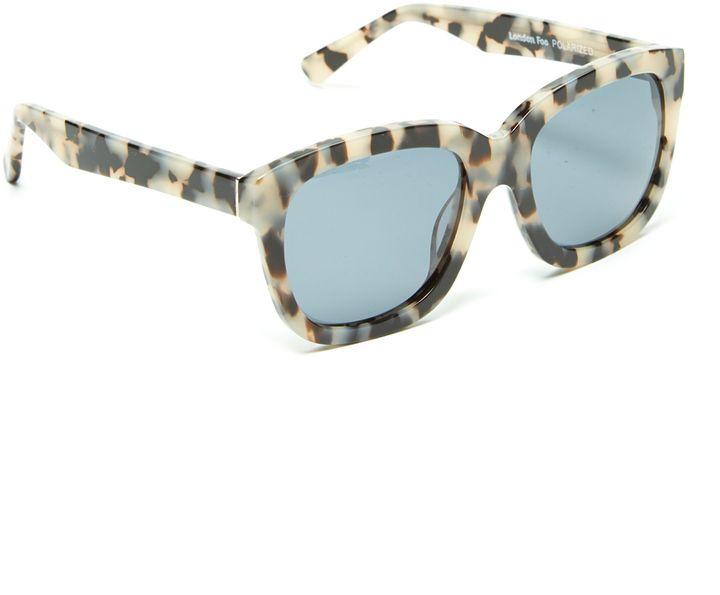 Tortoise Thick-Frame Polarized Sunglasses