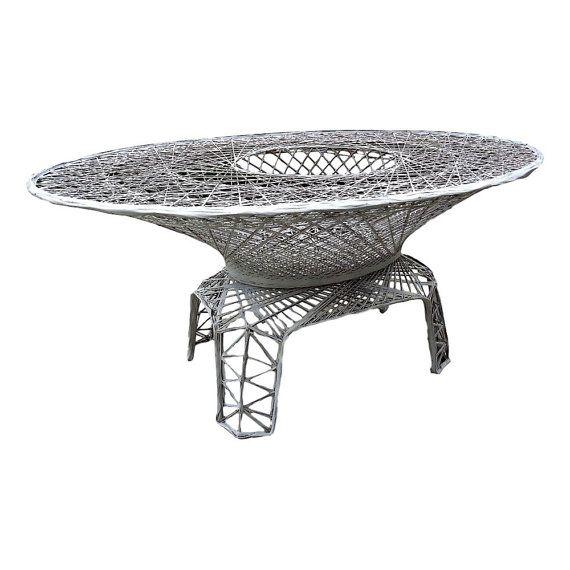 Vvh Vintage Russell Woodard Spun Fiberglass Dining Table Oval