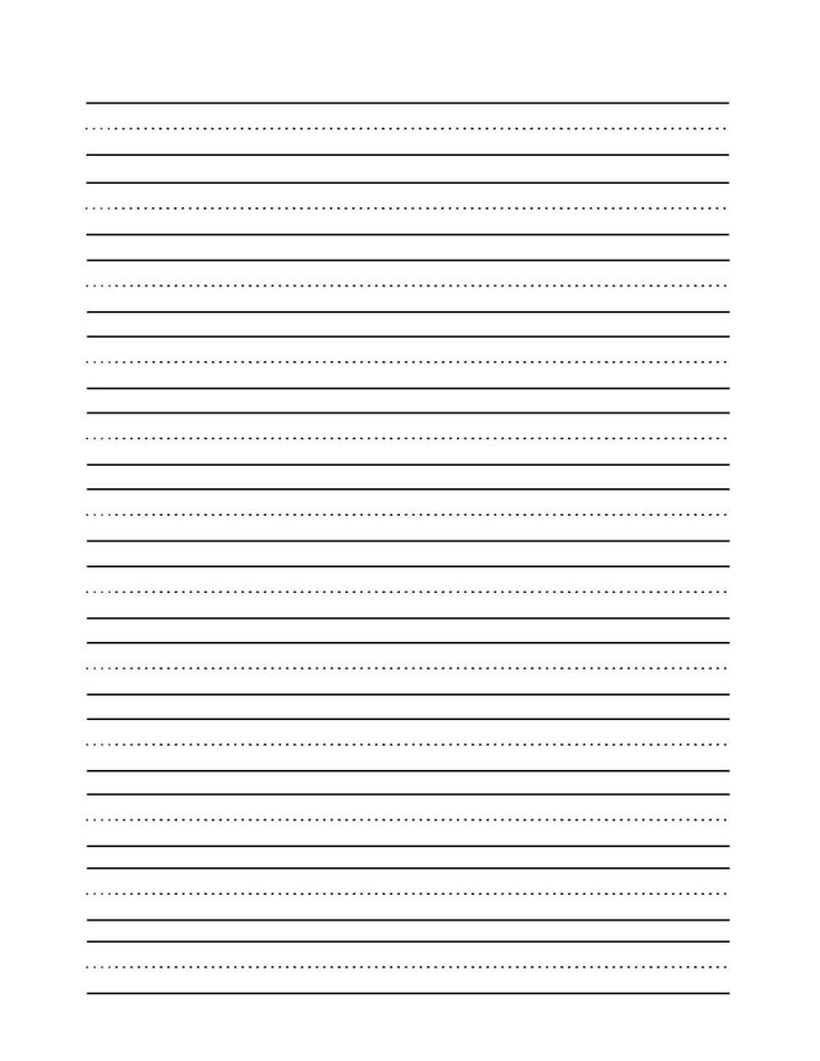 25 best ideas about Handwriting Practice Paper – Writing Lines Template