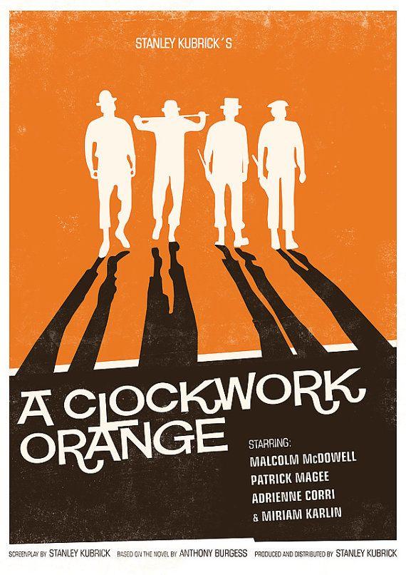 Clockwork orange Poster movie poster Stanley Kubrick  by handz, $21.00