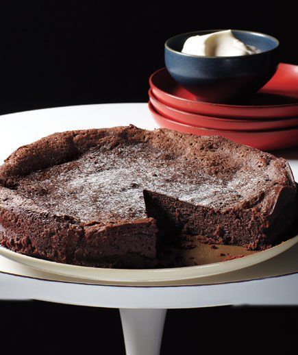 Flourless Chocolate Cake: You can never go wrong with this decadent, fudgy classic.