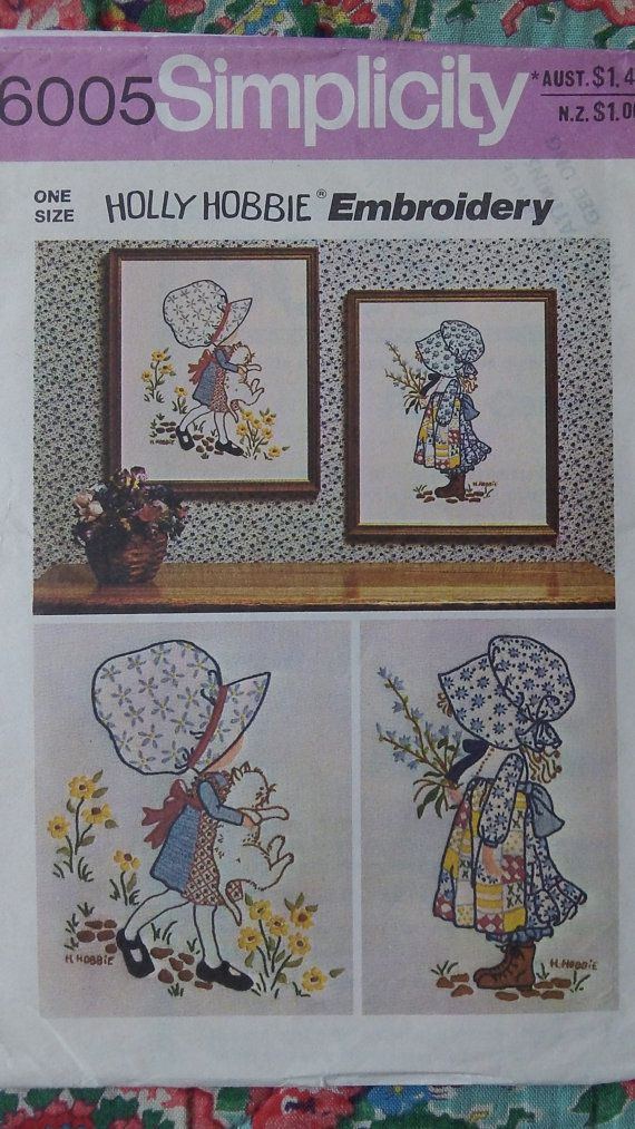 Gorgeous retro 1970s Holly Hobbie Simpicity by Gladyswasagirl, $6.00
