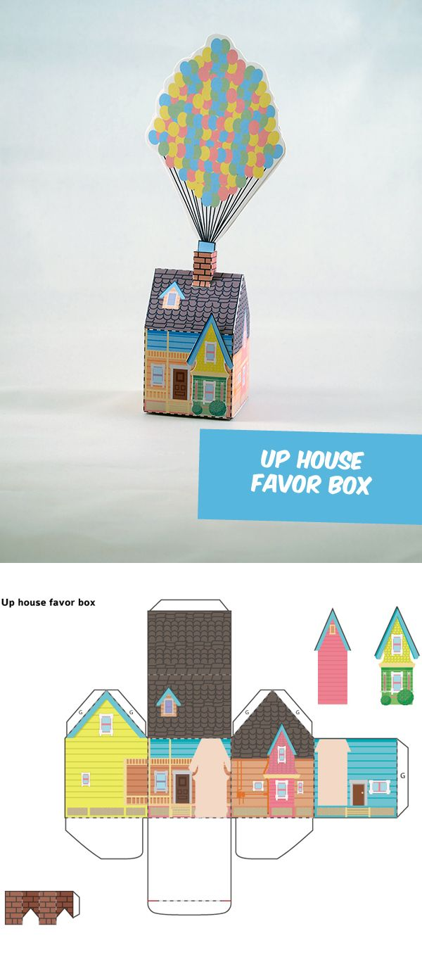 Create your own Disney's UP House Favor Box!