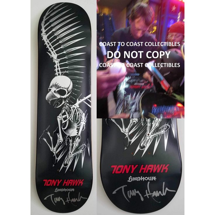 Tony Hawk, Signed, Autographed, Birdhouse Skateboard Deck, A COA with the Exact Proof Photo of Tony Signing Will Be Included...