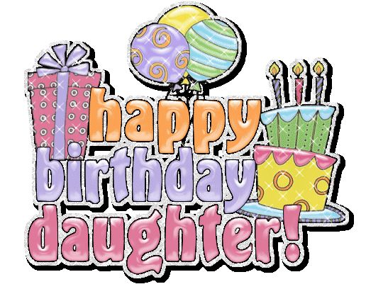 Happy Birthday Glitter Clip Art   Seasonal » Birthday » happy birthday daughter