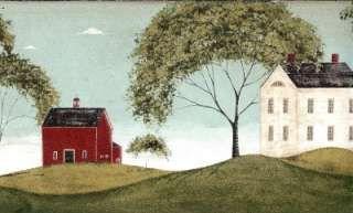 Warren Kimble Wall Art Wallpaper Border Red White House Aqua In 2018 Pinterest Painting And Folk