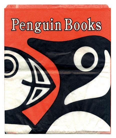 Penguin paper bag.