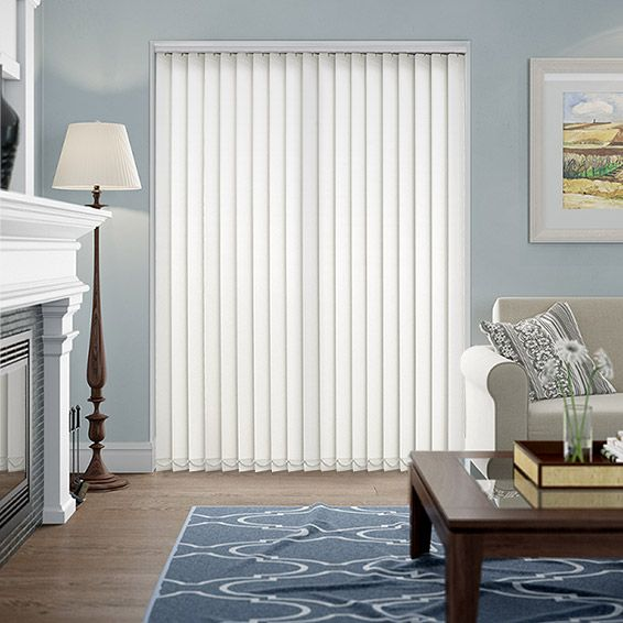 Valencia Simplicity White Vertical Blind from Blinds 2go