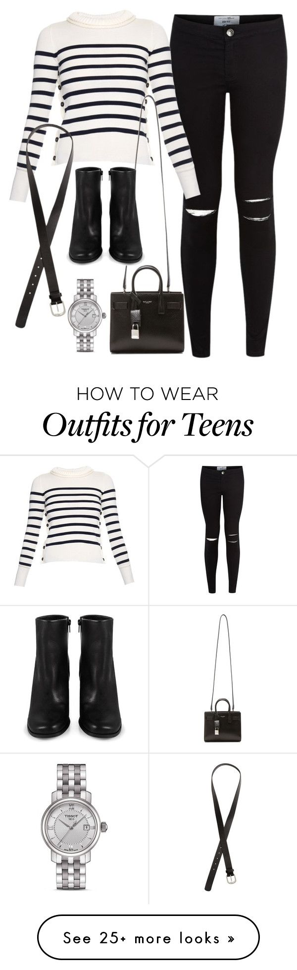 """Sans titre #2646"" by christina95styles on Polyvore featuring Alexander McQueen, Yves Saint Laurent, Miista, H&M and Tissot"