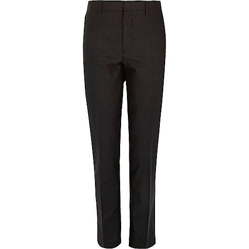 Zwarte skinny pantalon van linnemix - skinny fit - pakken - heren