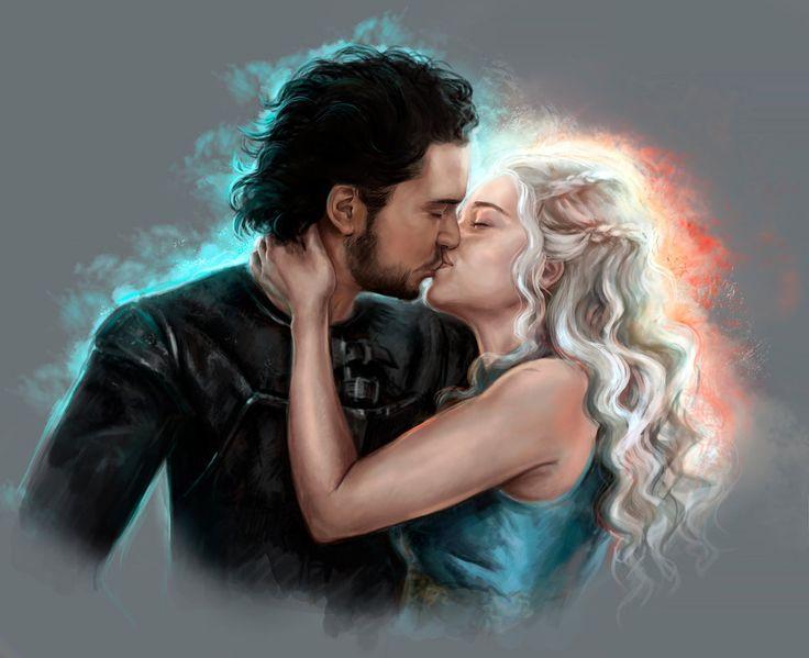 Jon Snow and Daenerys by FoxyAnt.deviantart.com on @DeviantArt
