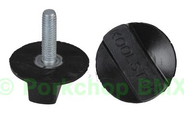 Kool Stop Intl'l old school BMX finned bicycle brake pad REFILLS (PAIR) - BLACK (EM-IRB)