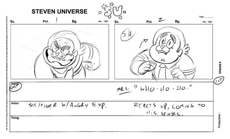 Storyboard from the Steven Universe episode u0027Tiger Millionaire - sample script storyboard