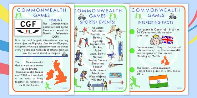 PE & Sports Commonwealth Games Primary Resources - PE and Sports
