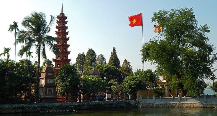 Tran Quoc Pagoda in Hanoi, West Lake. #tranquoc #pagoda #hanoi #westlake #travel #buddhism