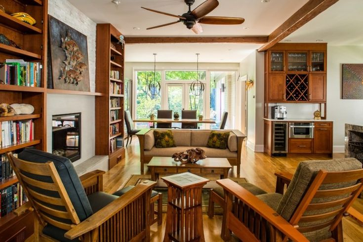 Best 25 mission style decorating ideas on pinterest Craftsman style living room furniture