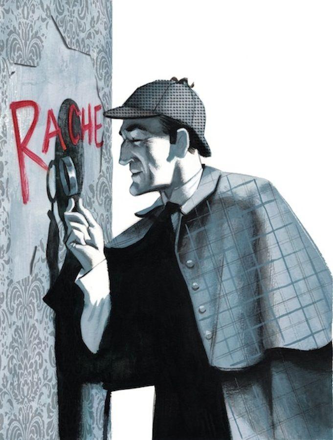 Libro Estudio En Escarlata Arthur Conan Doyle Fernando Vicente Sherlock Cómic Sherlock Sherlock Dibujo
