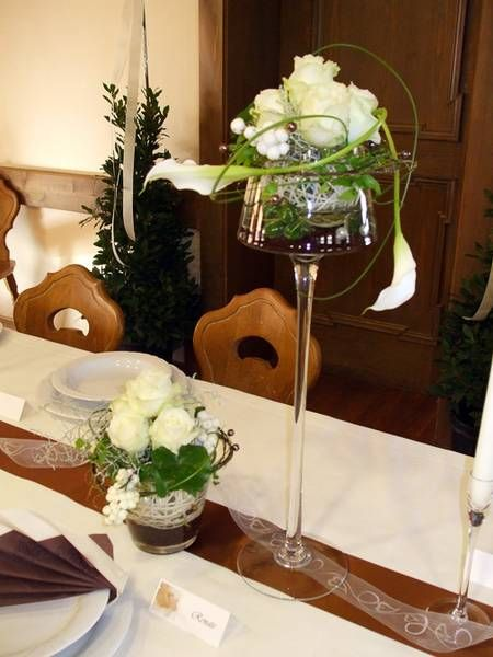 Tischdeko blumen im weinglas  25 besten tischdeko Bilder auf Pinterest | Art floral, Hochzeit ...