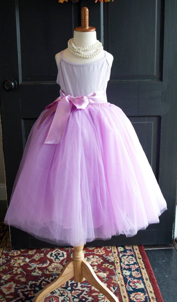 Girls Radiant Orchid Long Sewn Tulle Skirt,  Purple Lilac Tutu, Toddler Tulle skirt, Girls Tutu, Flower girl dress, long tulle skirt