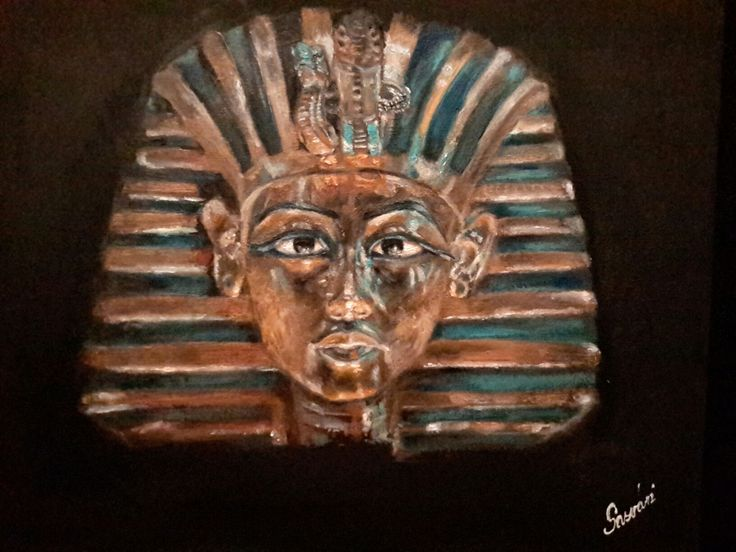 Tutanhamon aranymaszkja olaj