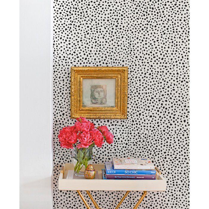Mckinnon Speckle Paintable Peel And Stick Wallpaper Panel In 2021 Trending Decor Peel And Stick Wallpaper Monochrome Interior