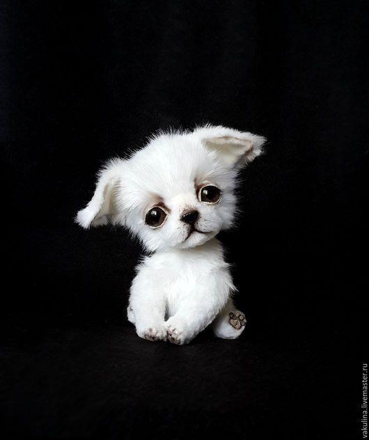 Мишки Тедди ручной работы. щенок чихуахуа  Кексик. VaKulina (Валентина) Мишки тедди. Ярмарка Мастеров. Щенок, ушастик, флис