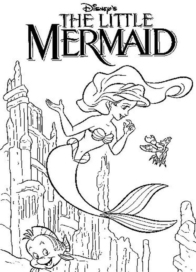 Little Mermaid Coloring Pages 9 Coloring Coloring Coloring Pages