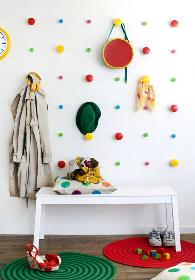 DIY Dotty Wall with IKEA Hangers