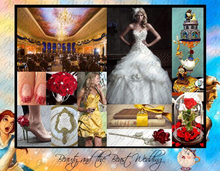 Beauty and the Beast Wedding Inspiration.  Disney Wedding Inspiration.