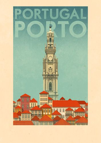 Oporto Poster by Rui Ricardo